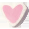 Marshmallow Herz rosa weiss