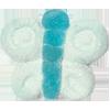 Marshmallow Schmetterling blau